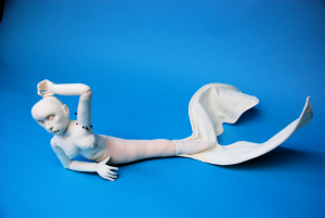 mermaid on Side with Arm on Head